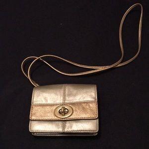 Gold Coach crossbody small bag